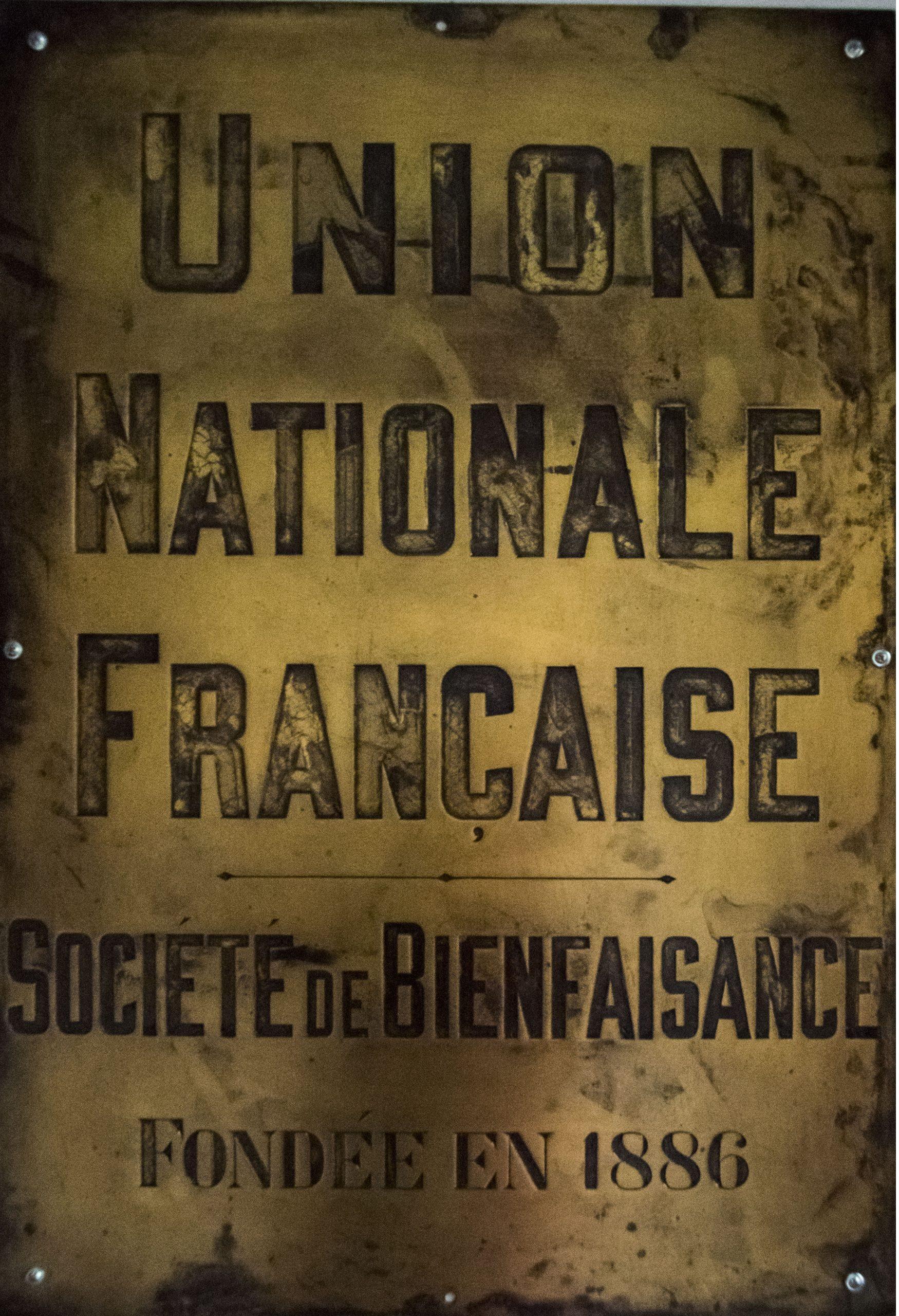 Societe bienfaisance Union Francaise